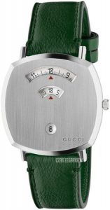 Zegarek Gucci GRIP na zielonym, skórzanym pasku