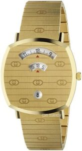 Złoty zegarek Gucci GRIP na złotej bransolecie