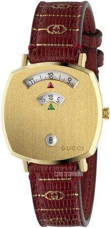 Zegarek Gucci GRIP na brązowym, skórzanym pasku