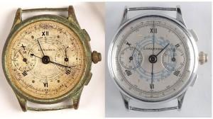 zegarek przed i po renowacji