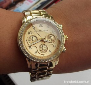 zloty-zegarek-damski-michael-kors-cyrkonie-nowy