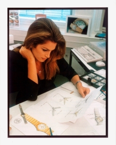 1996_Cindy-Crawford-working-on-the-Constellation-design-at-Omega-in-Bienne_1